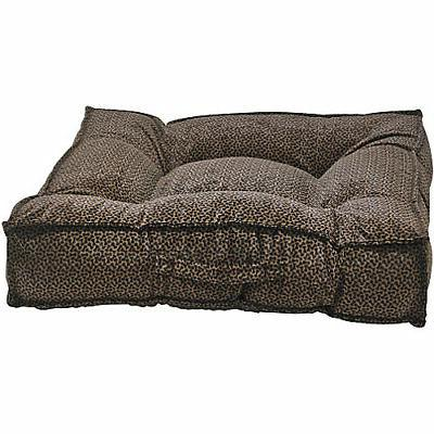 piazza chocolate bones dog bed