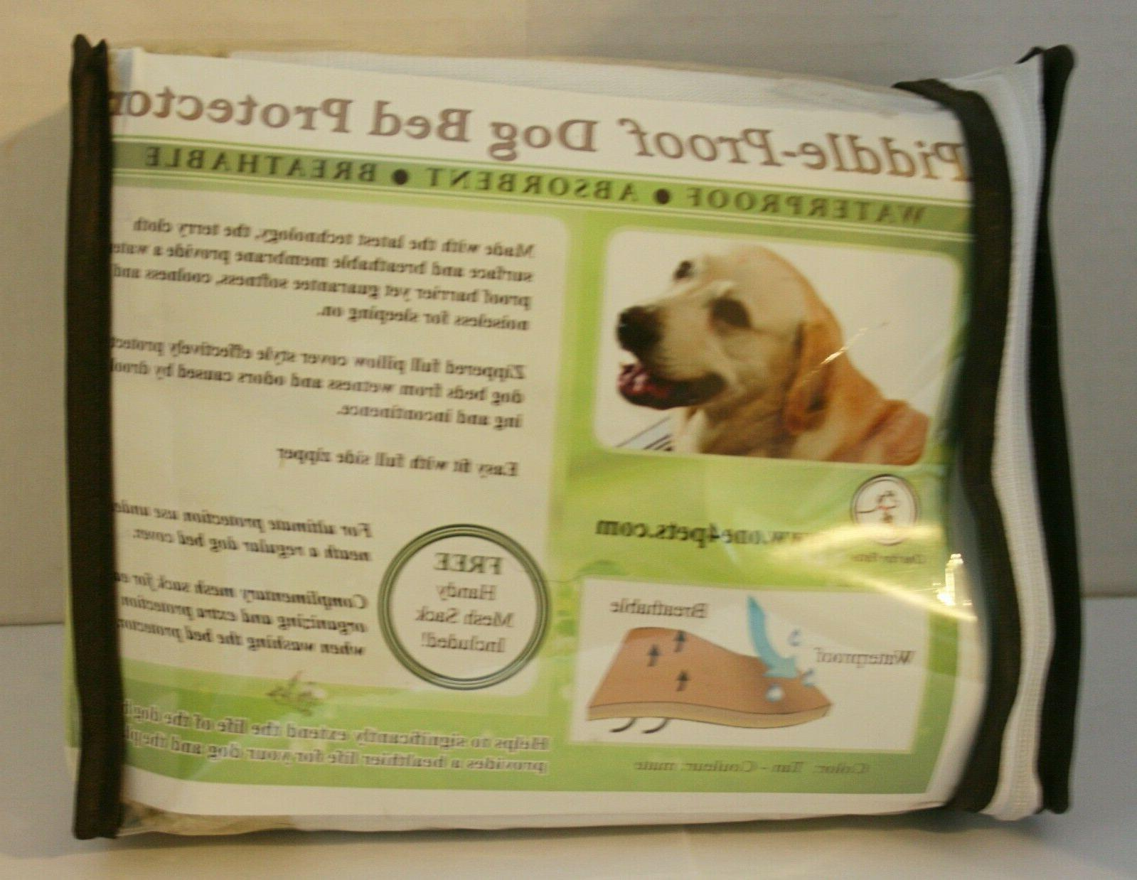 One For Pets Piddle-Proof Dog Bed Protector - Tan