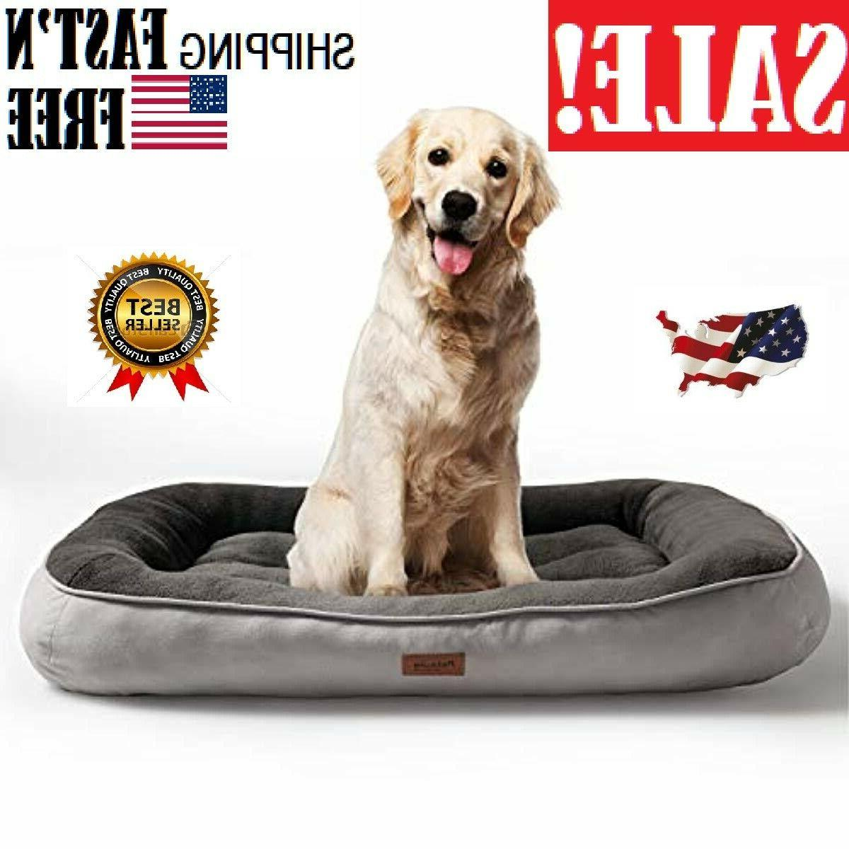 plush dog bed 32 36 43 inches