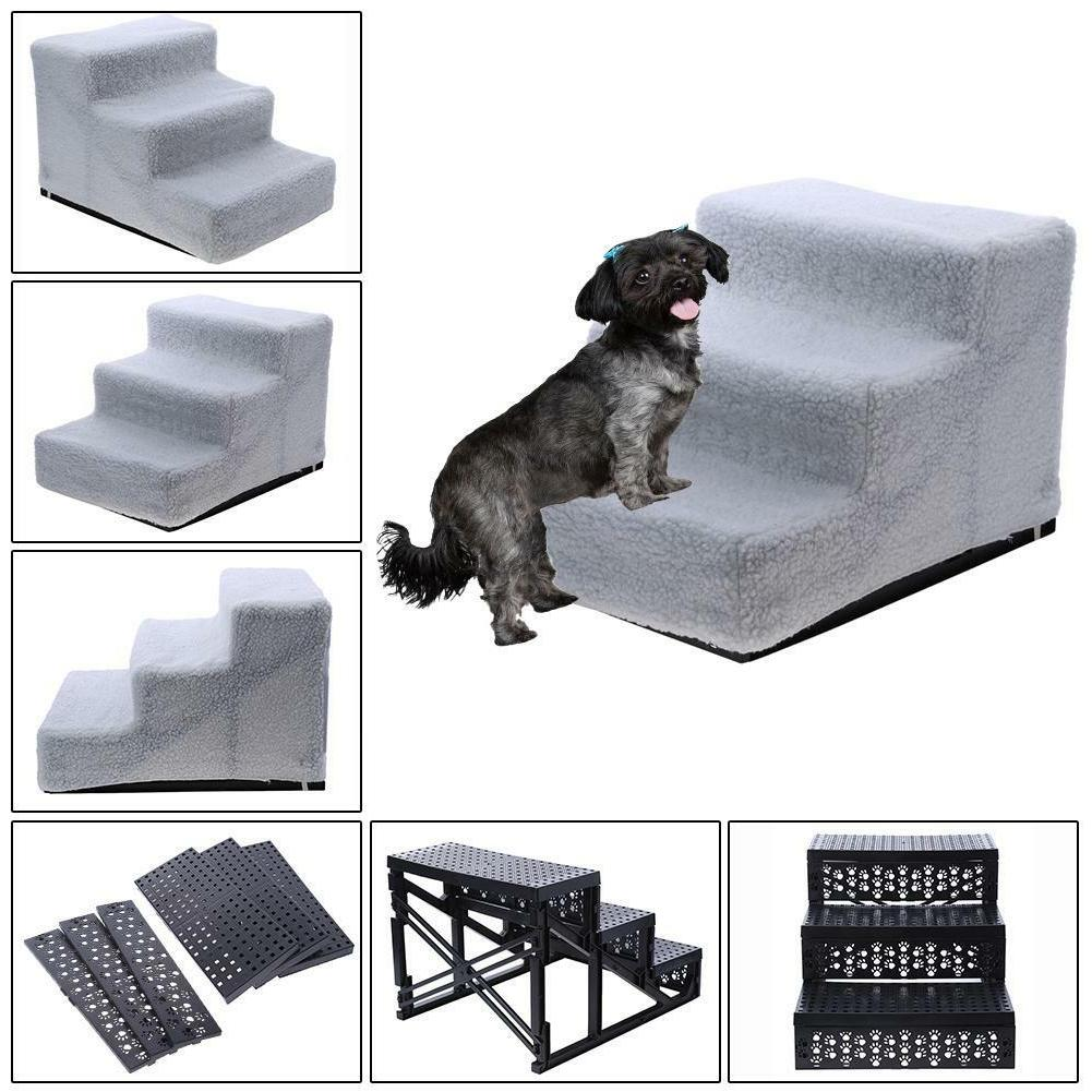 portable 3 steps dog stairs for bed