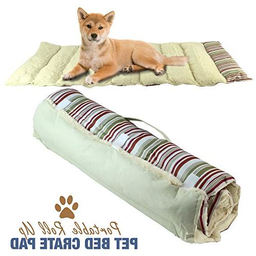 portable dog bed roll pet
