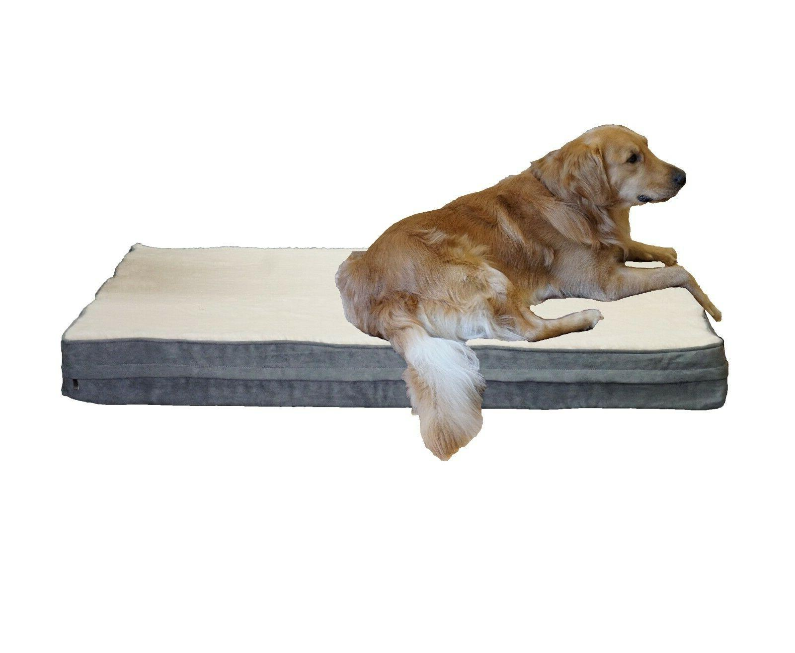 premium memory foam orthopedic dog bed w