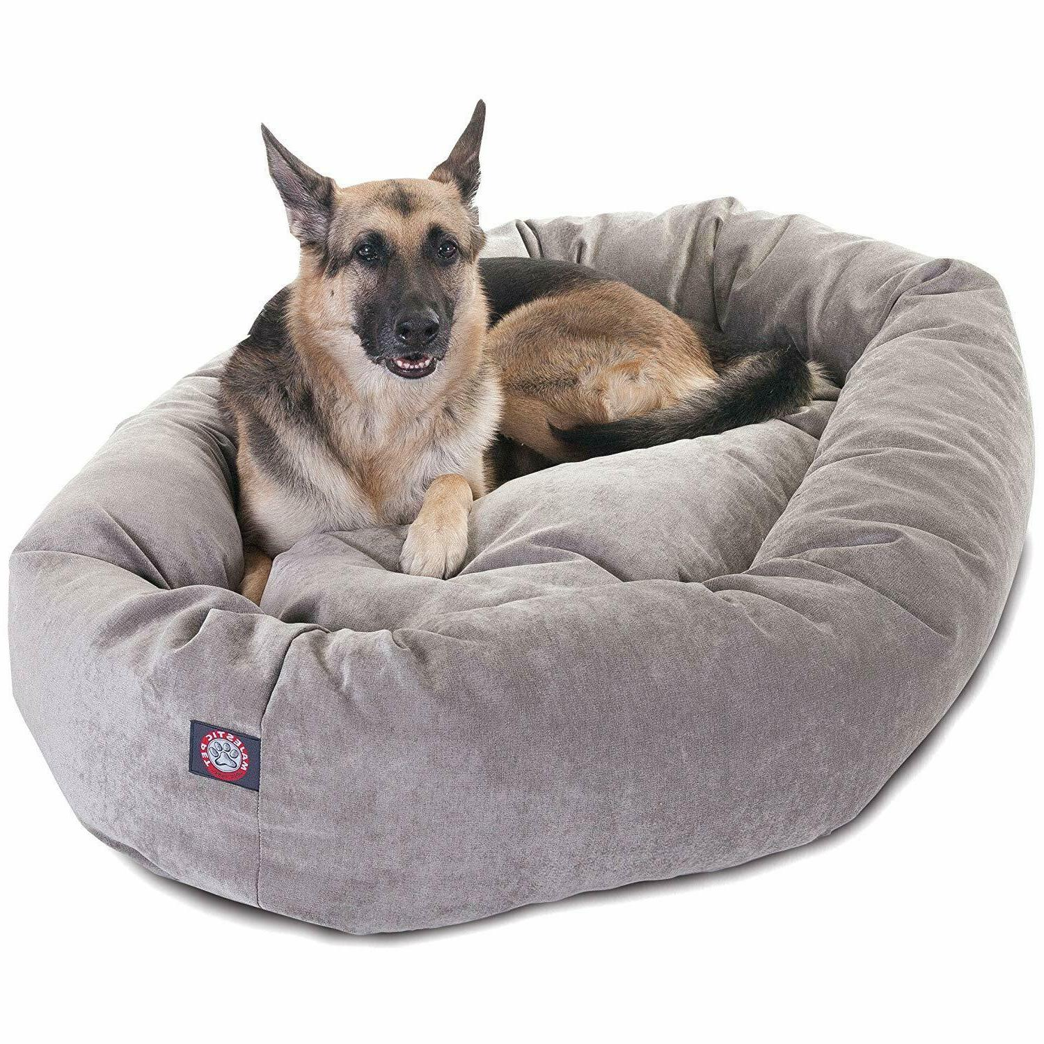products 52 suede bagel dog bed removable