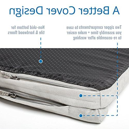 PetFusion Puppy Crate Bed with solid foam liner & removable cover cover