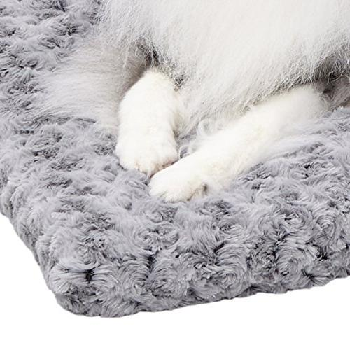 Plush Dog Bed | Ombré Dog Bed & Bed | Gray 29L 21W x for Dog Breeds