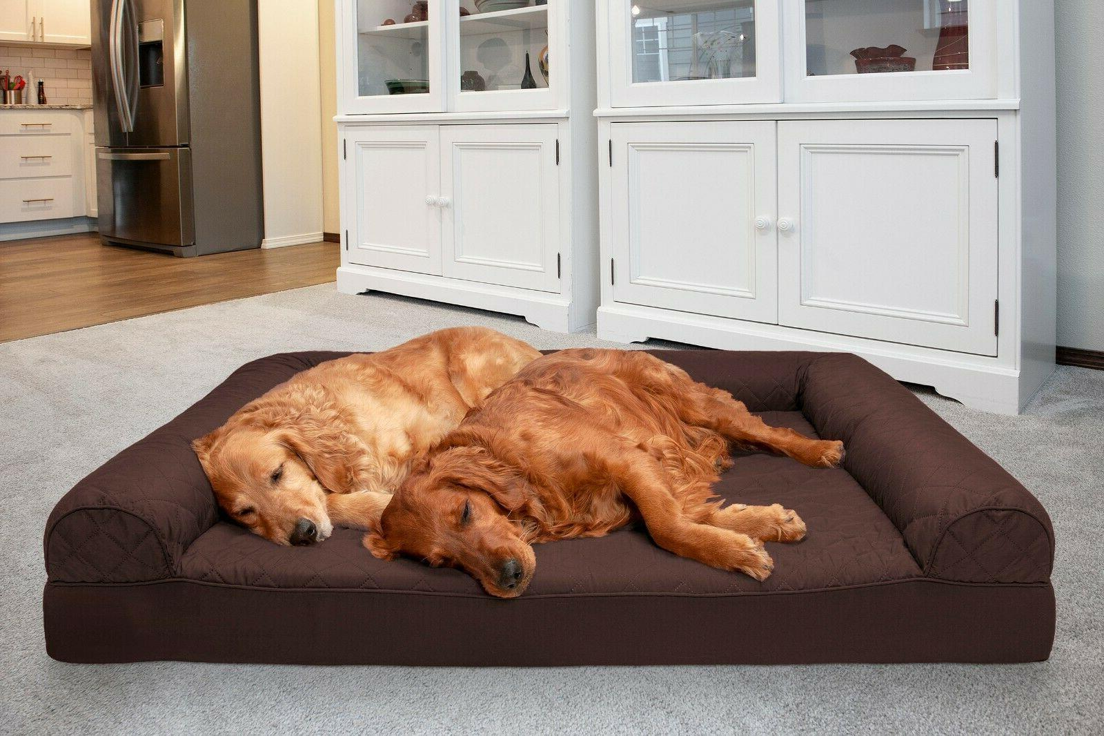quilted orthopedic sofa dog bed pet bed