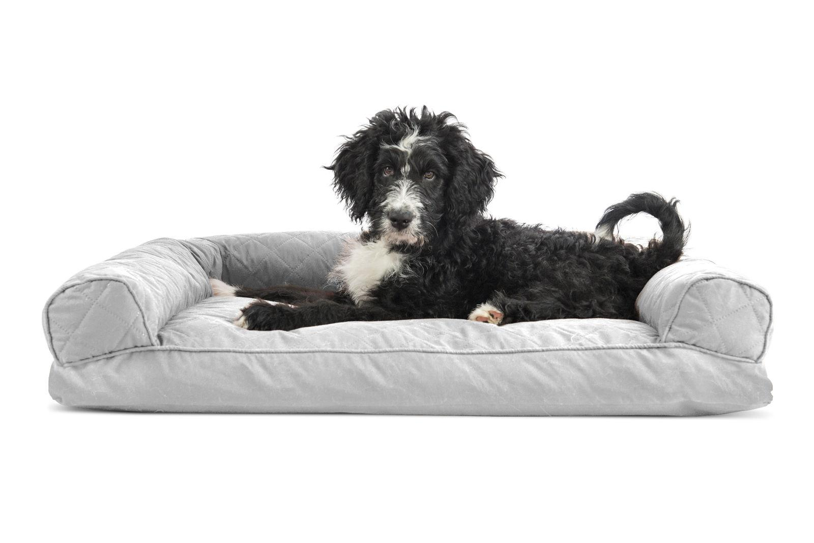 FurHaven Quilted Pillow Sofa Dog Bed