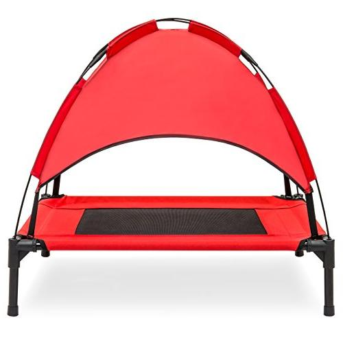 Best Raised Dog Tent, Travel Bag Red
