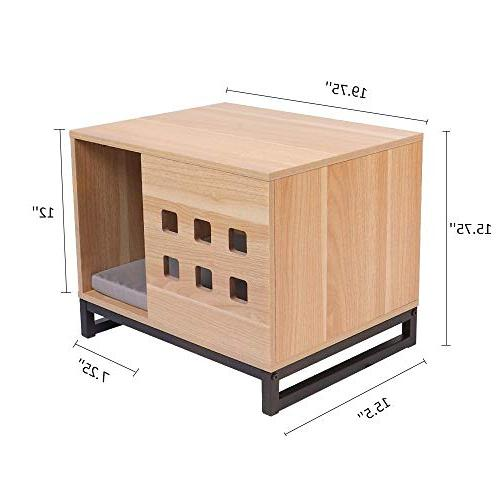 BBvilla Wooden Pet House Ins Cabin Vents, Indoor Kennelfor Small Dogs/Pets/Cats with