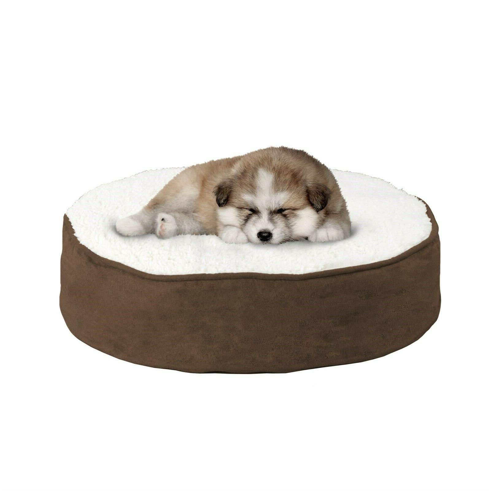 round pet dog bed memory