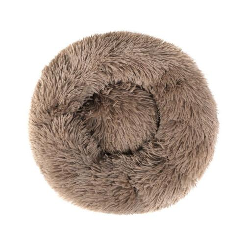 Round Plush Donut Pet Dog Cat Cuddler Warm