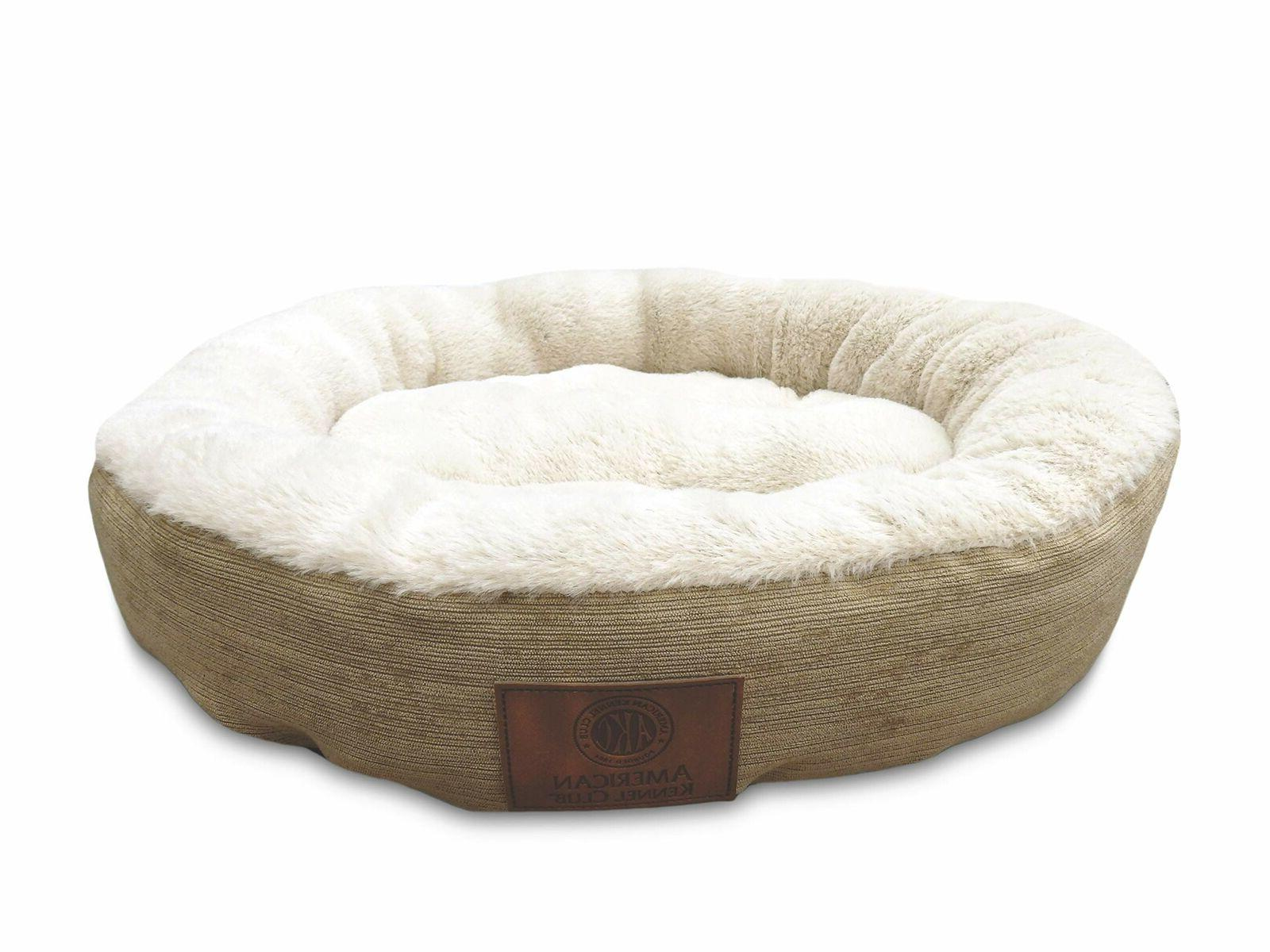 Round Solid Pet Bed Cat Dog Puppy Sleeping Small For Cats &