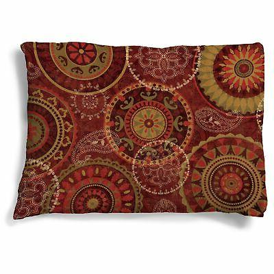 Laural Home Ruby Wheels Fleece Dog Bed Red Large
