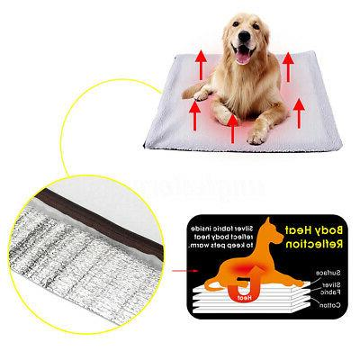 S/L Dog Cat Mat Heating Soft Rug Thermal