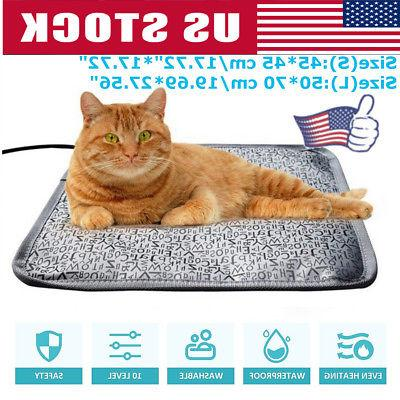 s l pet dog cat waterproof electric