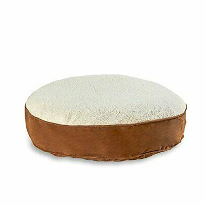 scout deluxe round dog bed large latte