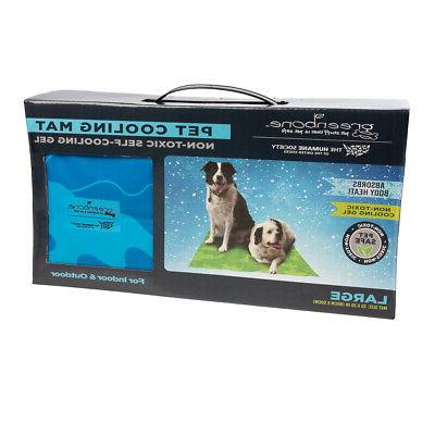 Self-Cooling Gel Pet For Floor Bed Crate Cool Dog Indoor