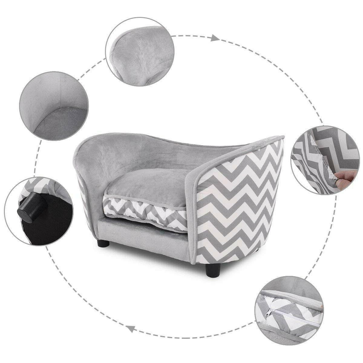 Small Bed Beds Dogs Sleeping Soft Gray New