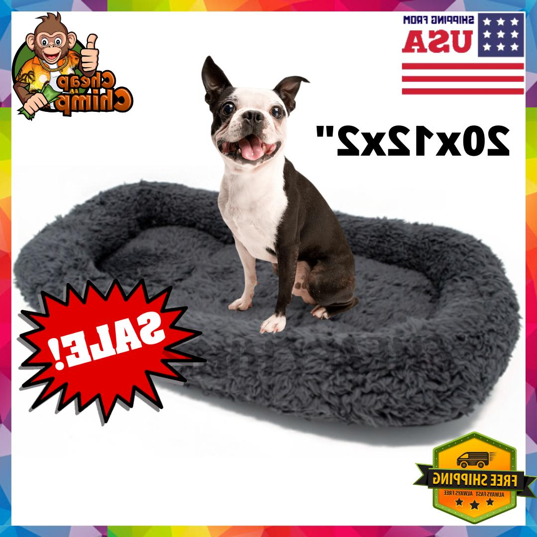 Small Dog Bed Cave/Crate/House Mat Cat Calming Soft Plush Ma