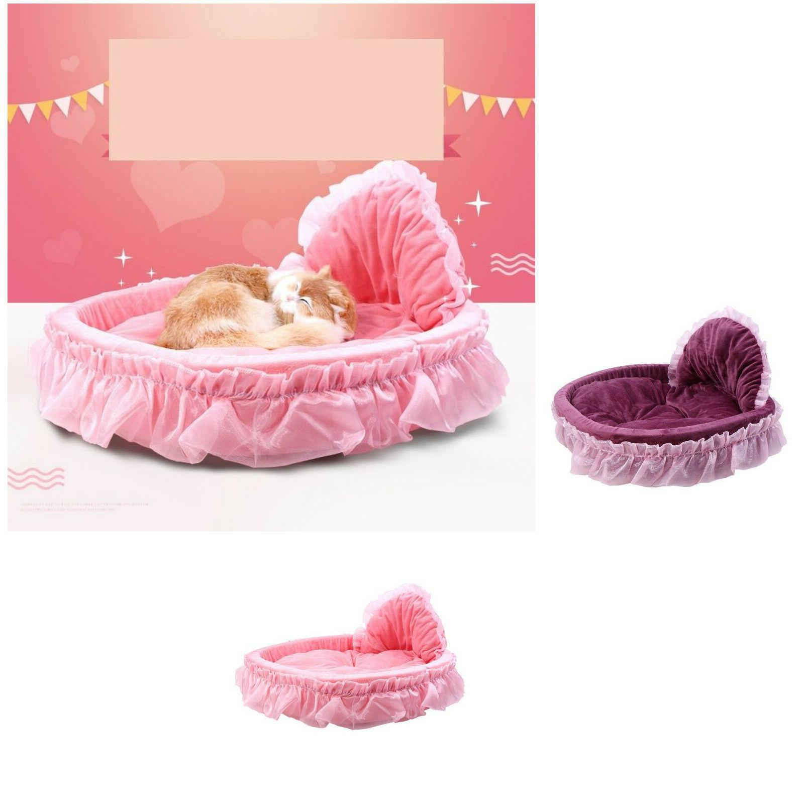 Small Dog Bed Fashion Four Seasons Lovely Bow Lace Warm Sofa
