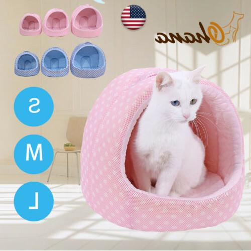 Pet Small Dog Cat Bed Cave Pad Cute Cushion Portable Machine