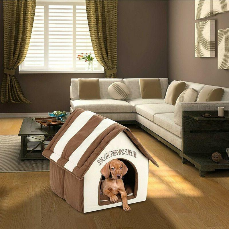 portable indoor pet bed dog house soft