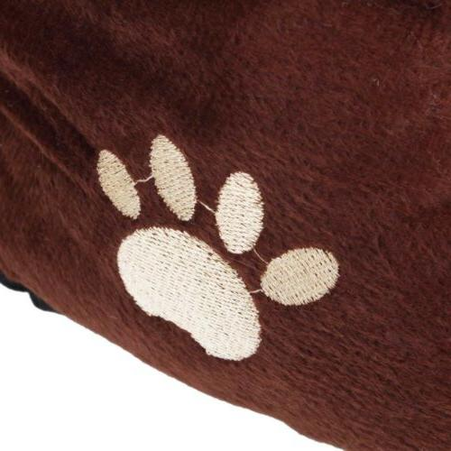 Small Medium Bed House Warm Fleece Cozy Pet Nest Cotton Mat