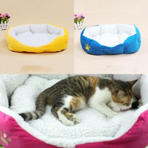 Small Size Pet Bolster Bed Dog Cat Bed Beds Furniture Blue/Y