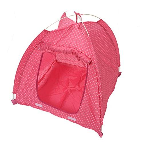 SODIAL Camp House pink-S