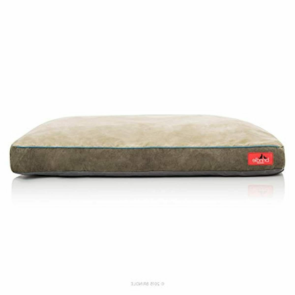 Soft Foam Bed Khaki with Cover