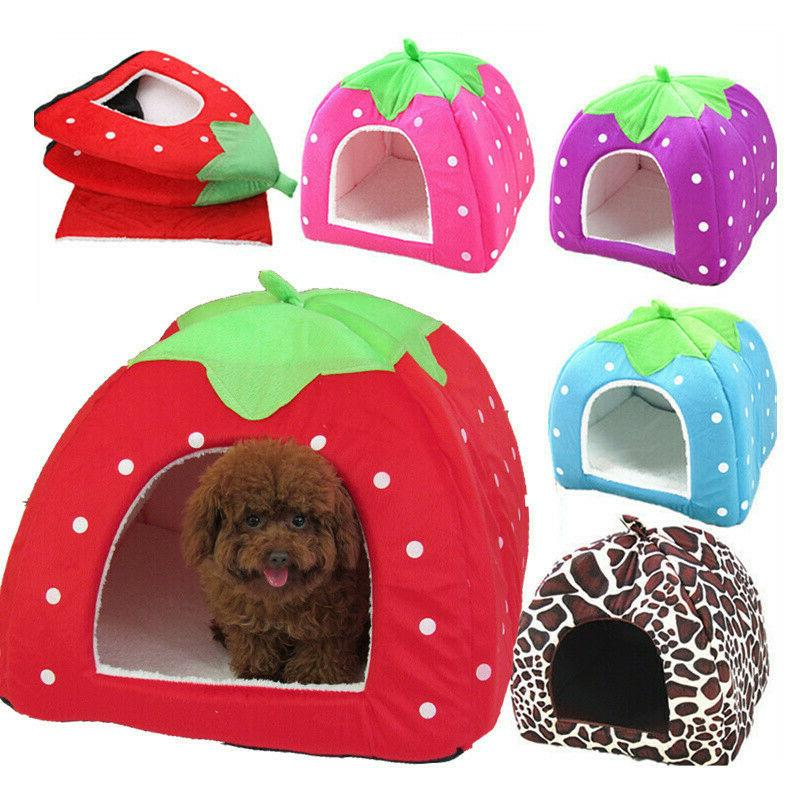 soft pet dog cat bed house kennel