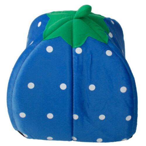 Soft Strawberry Pet Dog Cat House Doggy S M L