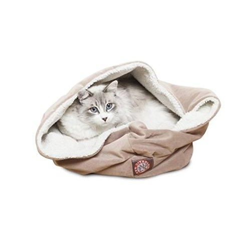 stone suede burrow cat bed