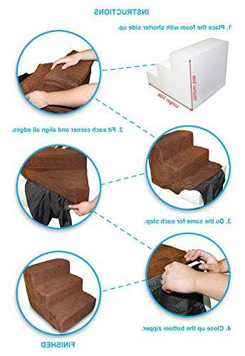 Best Supplies 4-Step COVER Stairs/Steps Brown