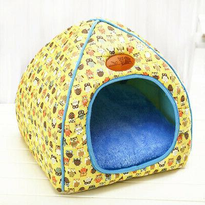 Pet Dog Bed Tent Warm Cave Shelter Plush