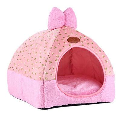 Pet Bed Tent House Cave Sleeping Plush