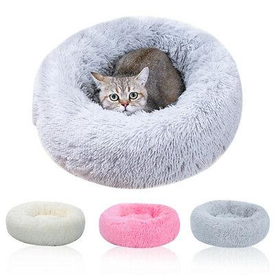 us fur donut cuddler pet calming bed