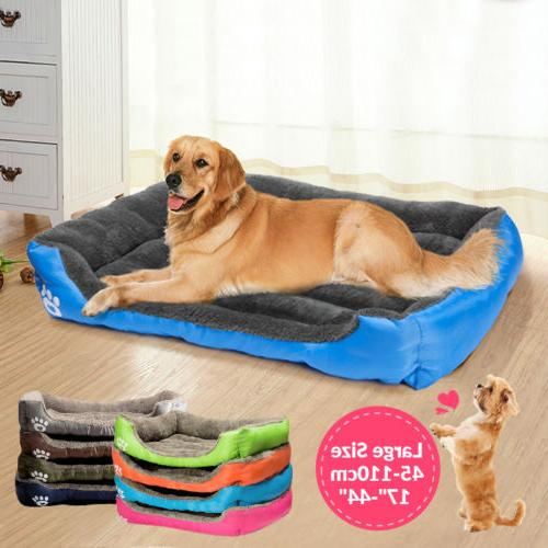 US Dogs Bed Cushion Large Pet Dog Cat Bed Puppy House Soft W