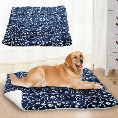 Cute Pet Dog Bed Mat Kennel Crate Soft House S-XL