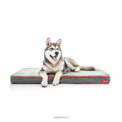 Brindle Waterproof Designer Memory Foam Pet Bed - Charcoal V