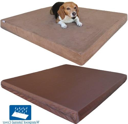 Dogbed4less Premium Orthopedic Memory Foam Large Waterproof and Extra Cover, XXL Pad,