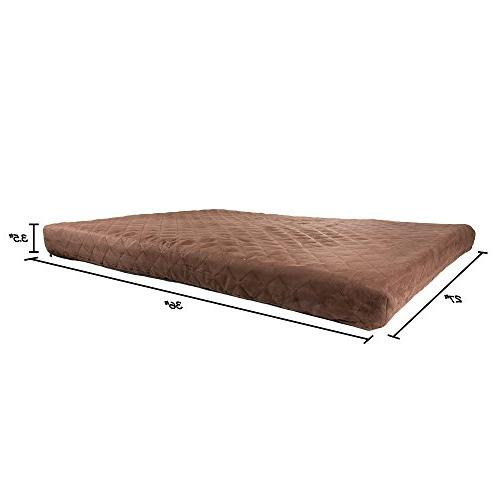 Waterproof Foam Bed- Indoor/Outdoor with Water Resistant Non Slip Removeable Washable Cover, x 27