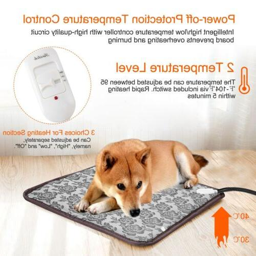 "17"" Warm Pet Dog Electric Heated Heating Pad Bed"