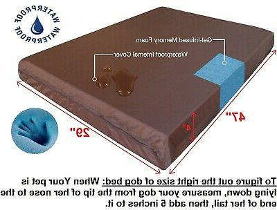 Waterproof MEMORY FOAM Pet Dog Bed