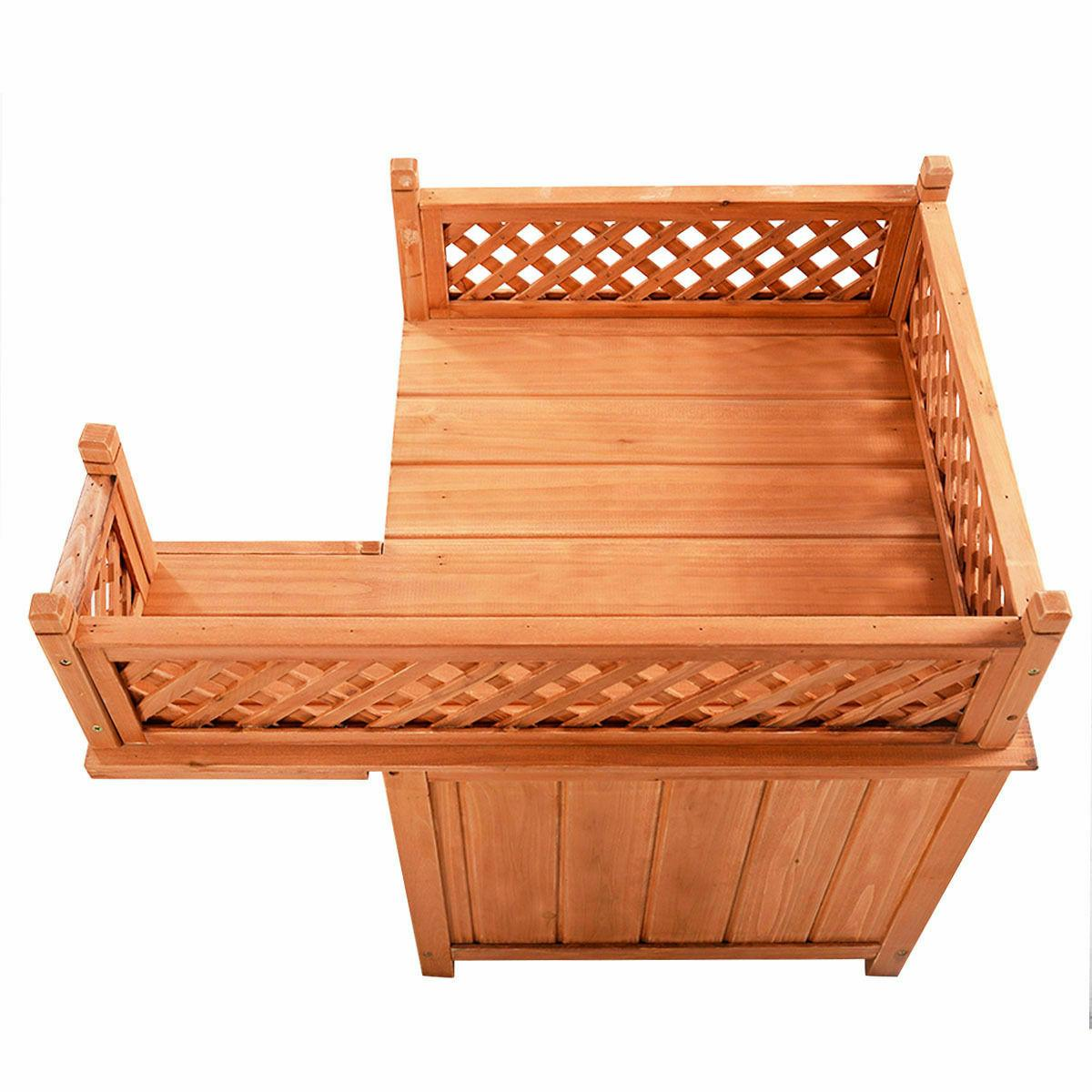 Wood Wooden Puppy Room & Outdoor Roof Bed Shelter