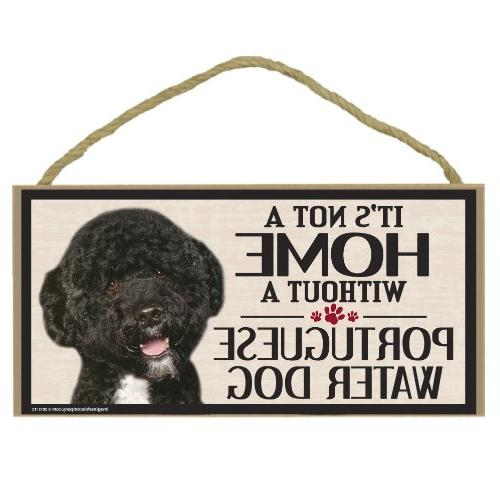 wood sign portuguese water dog