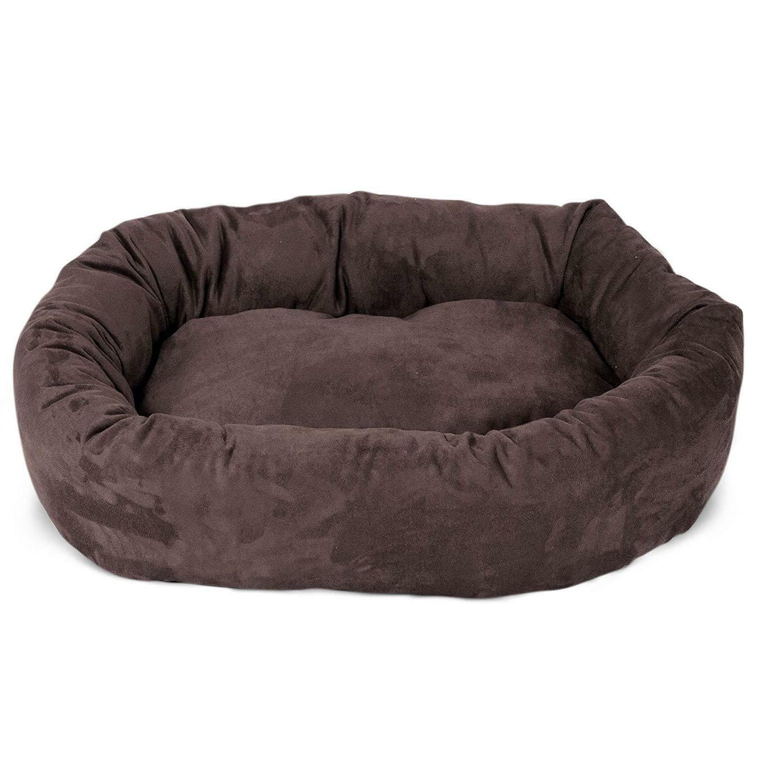 XL Bed Brown Pet Breed Suede 52""