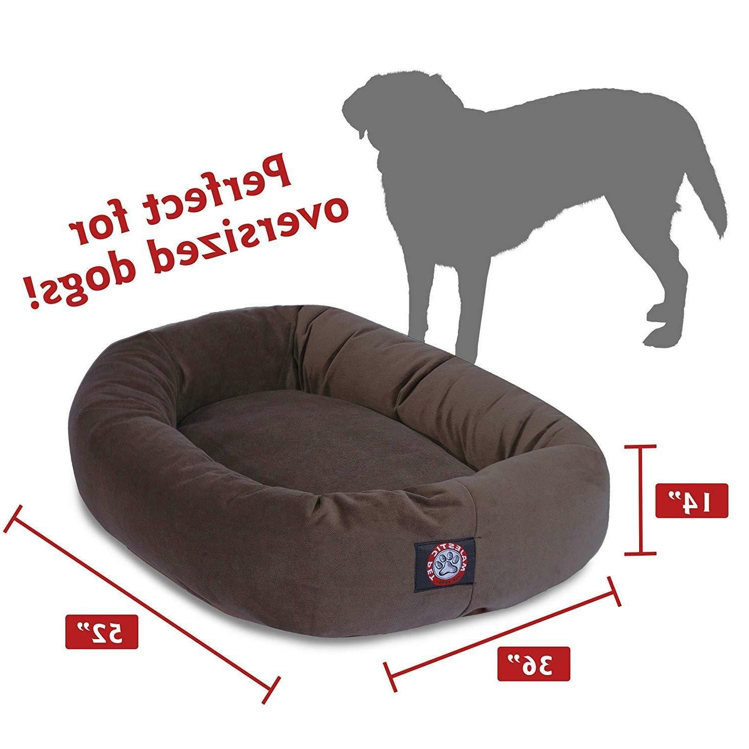 XL Dog Chocolate Brown Breed Suede