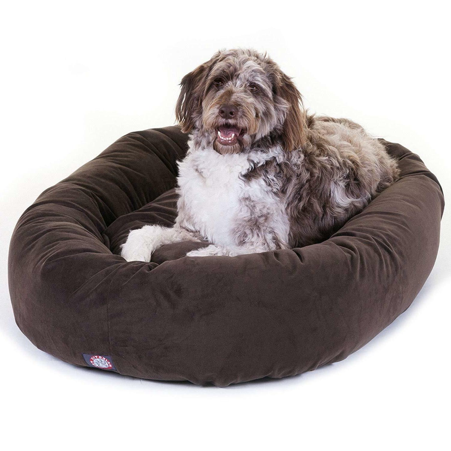 XL Bed Brown Extra Breed Bagel Suede
