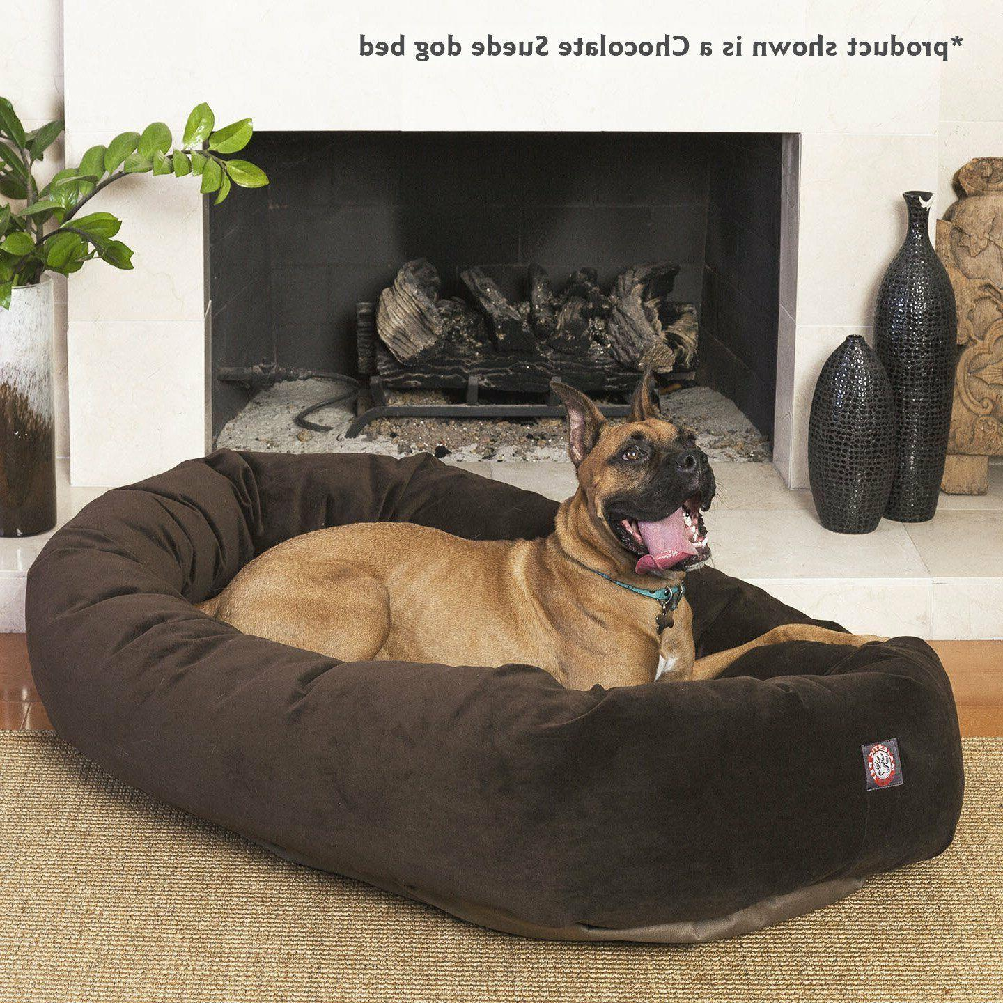 xl dog bed chocolate brown pet extra